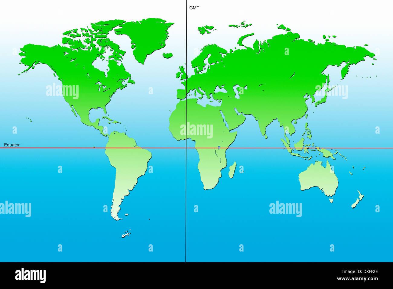 Africa Map Equator Stock Photos & Africa Map Equator Stock ...