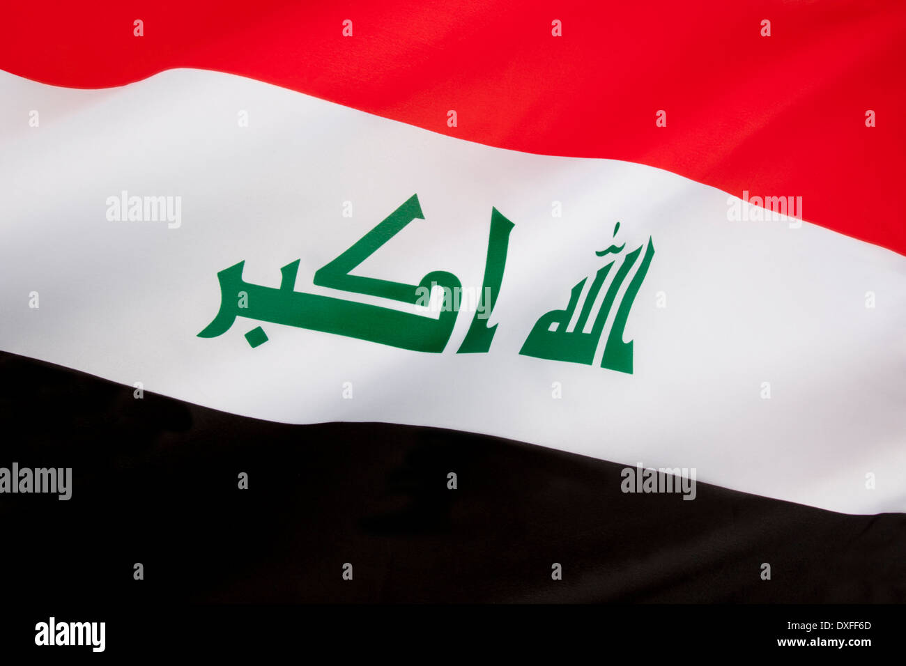 The flag of Iraq - Stock Image