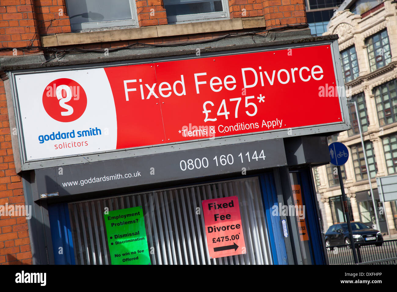'Consciously uncouple' Solicitors in Ancoats, Manchester offering fixed fee Divorce £475 - Stock Image