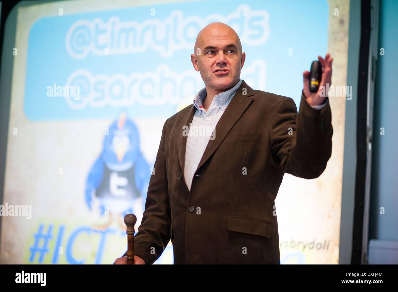 Motivational educational speaker TIM RYLANDS - Stock Image