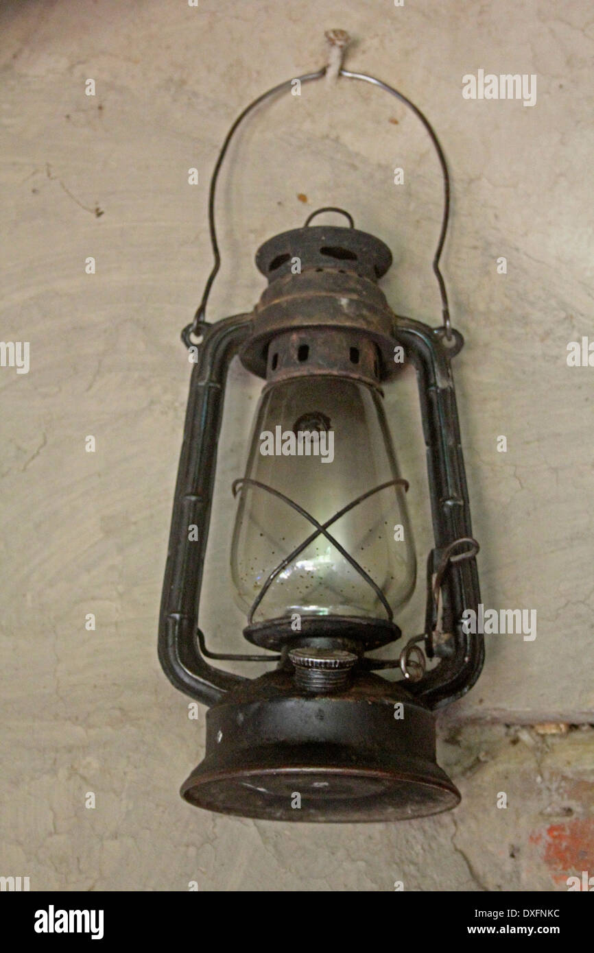 Antique lantern - Stock Image