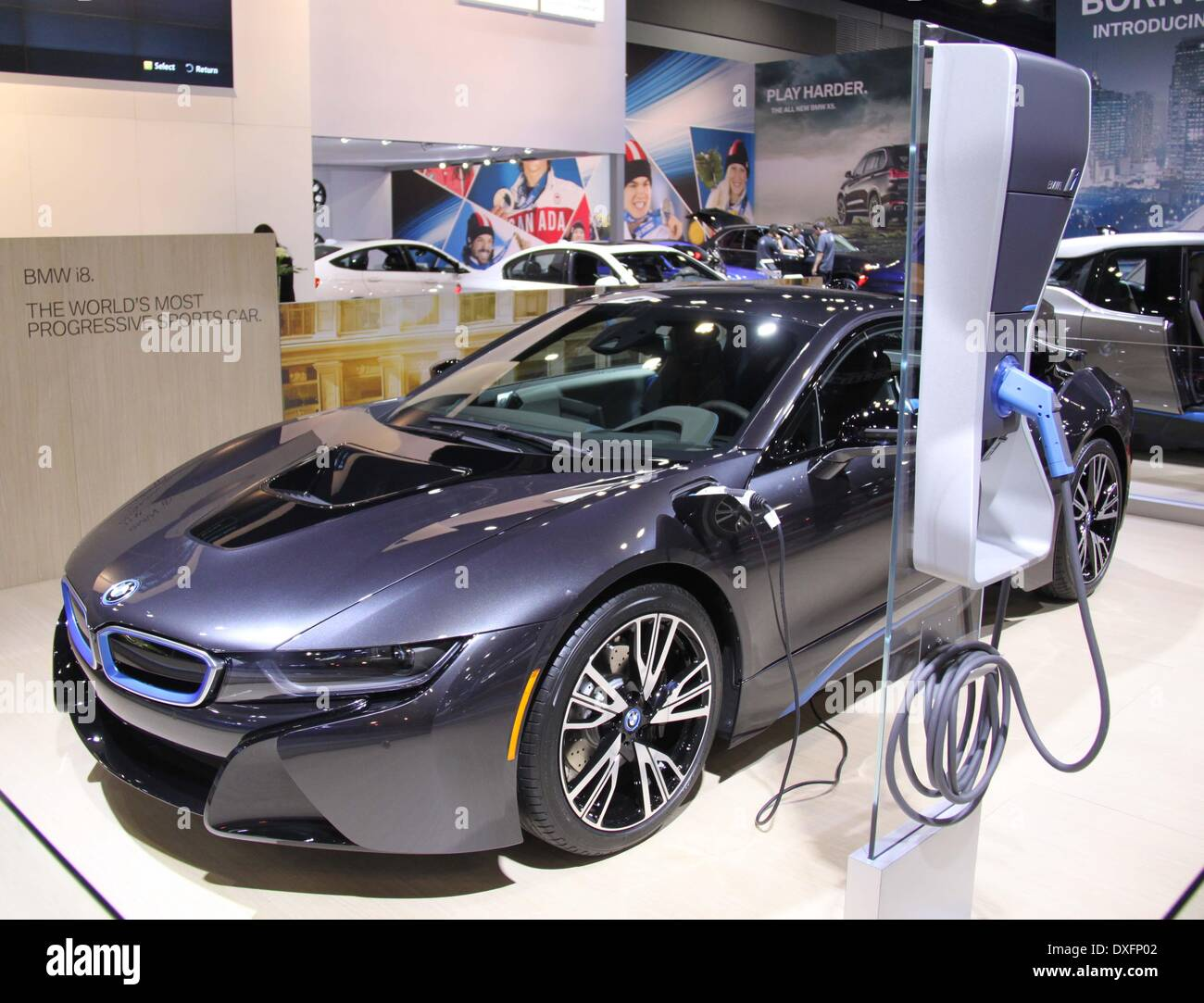 Vancouver Canada 25th Mar 2014 A Bmw I8 Is Seen At The 2014