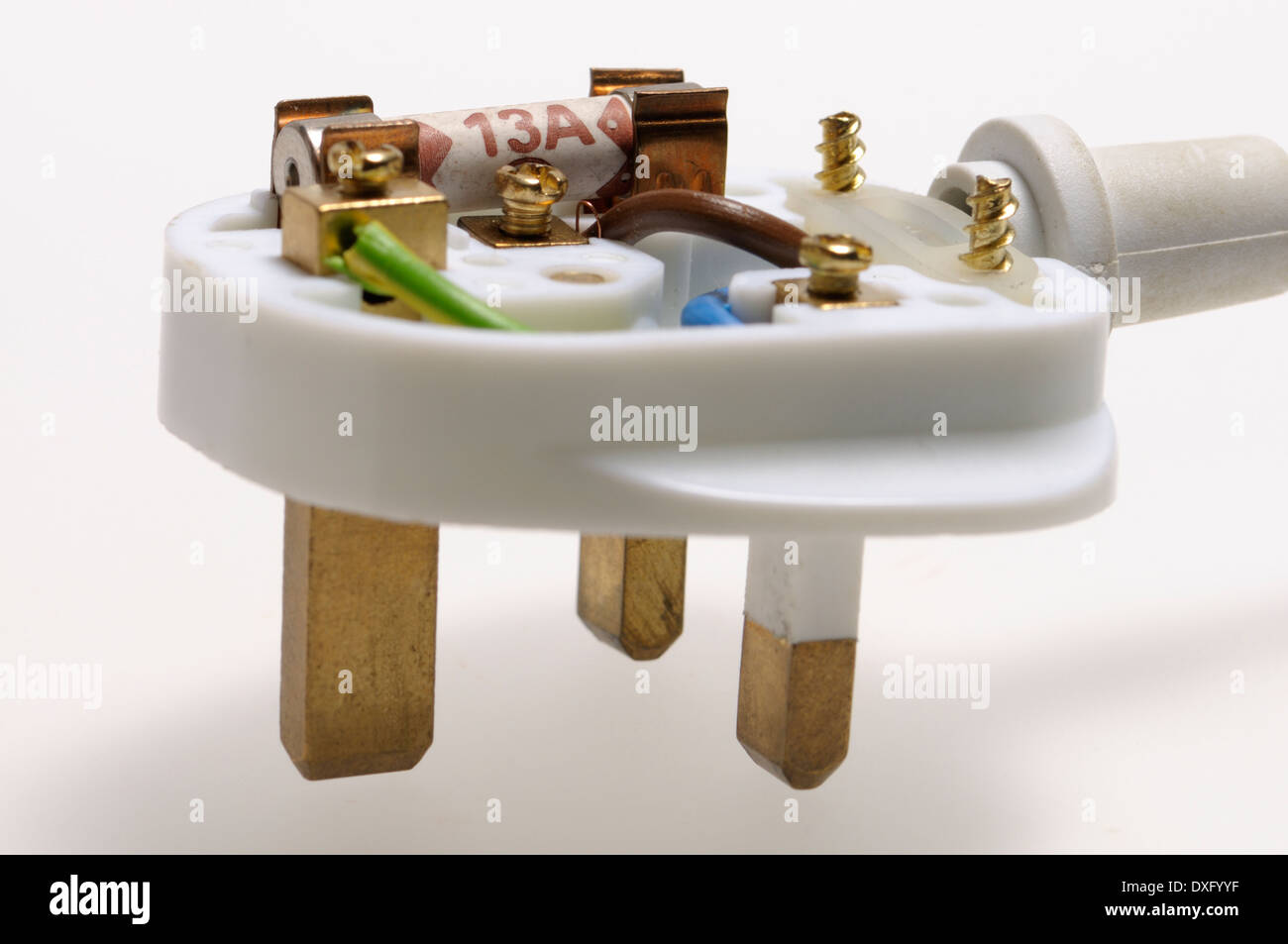 3 Pin Plug Stock Photos Images Alamy Wiring A Kitchen British Electric With Top Removed To Show Fuse And