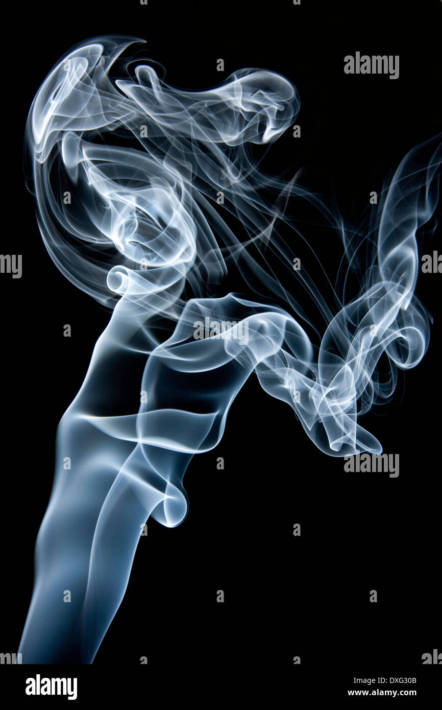 Smoke swirls - Stock Image