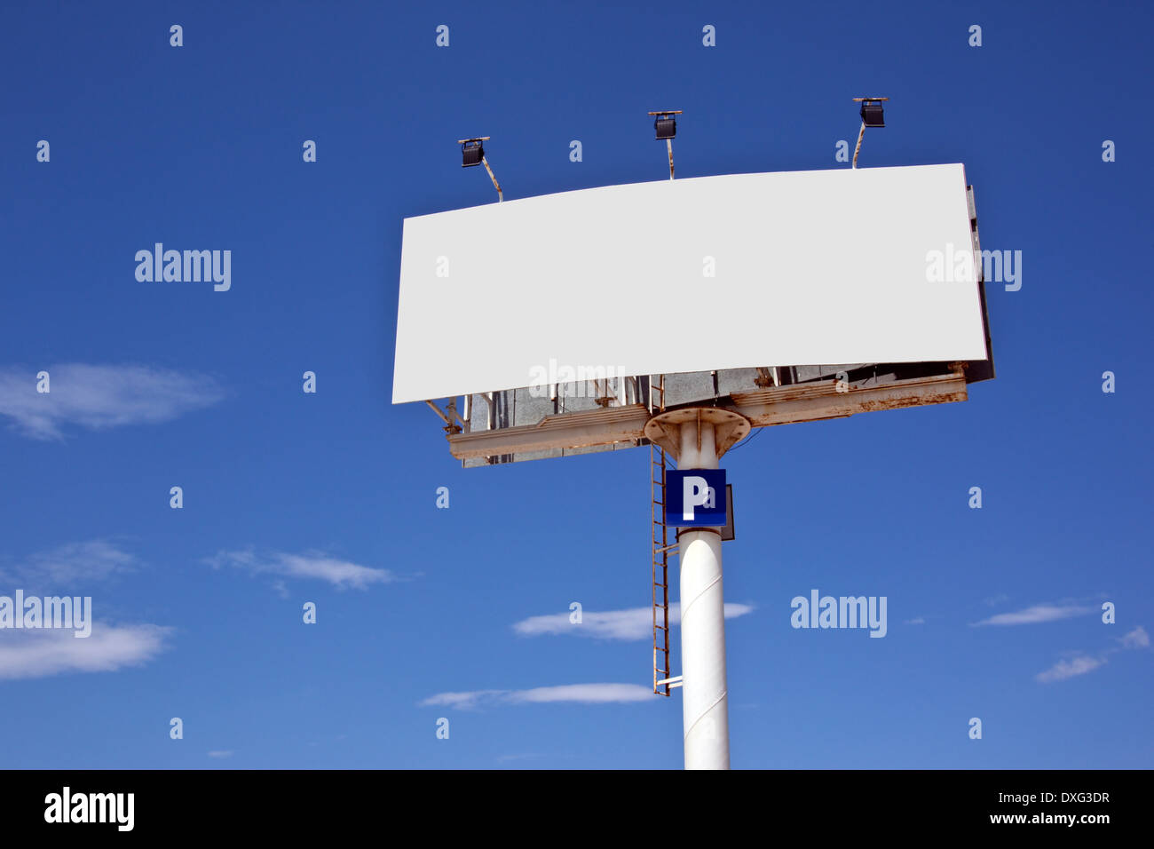 Blank advertising sign - Add your text or image to this space. - Stock Image