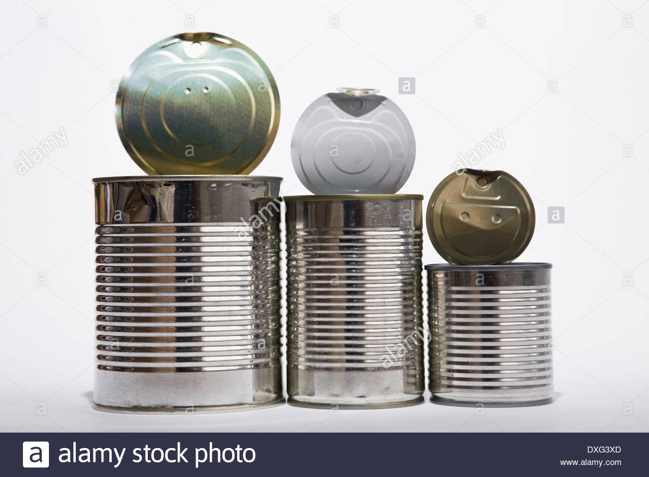 Empty tins - Stock Image