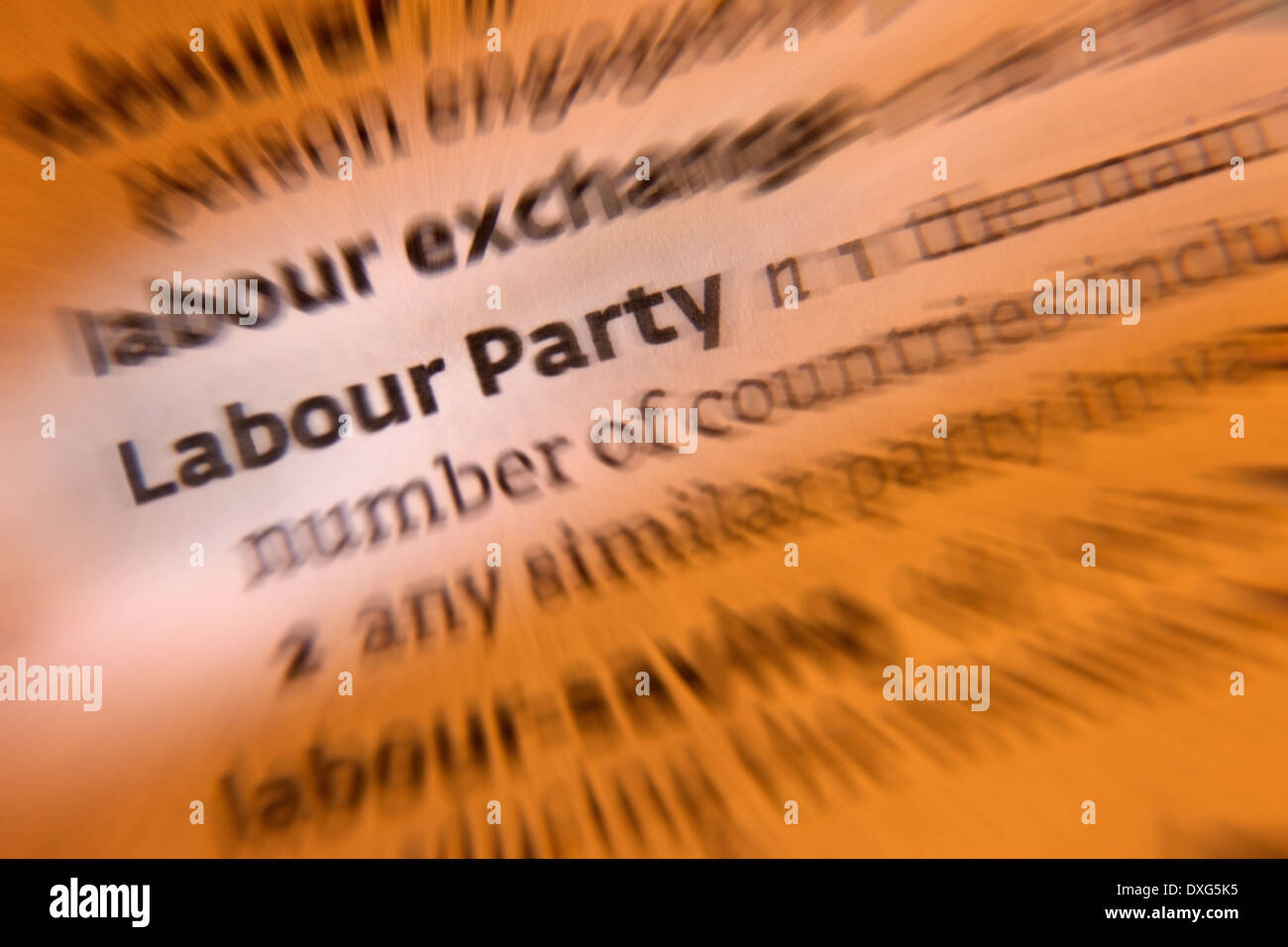 The Labour Party is a major left-of-center British political party - Stock Image