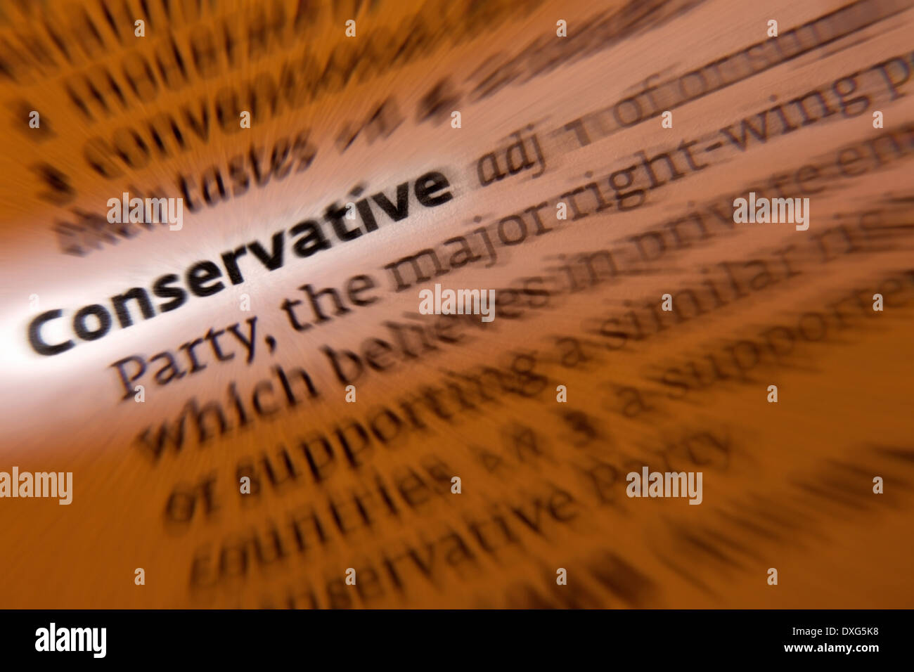 Conservative Party - a major right-of-center British political party - Stock Image