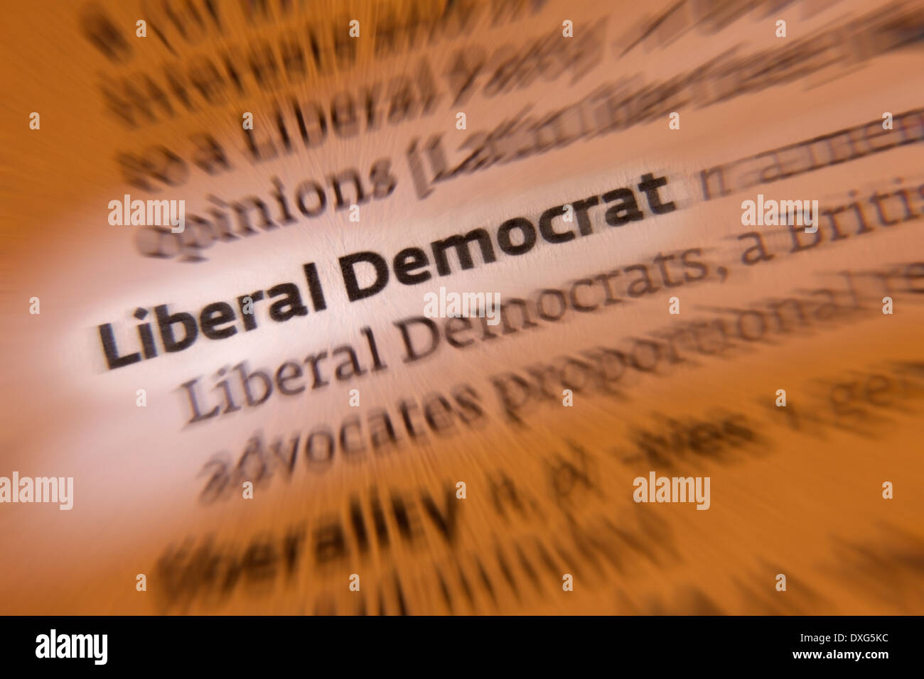 The Liberal Democrats are a major British political party - Stock Image