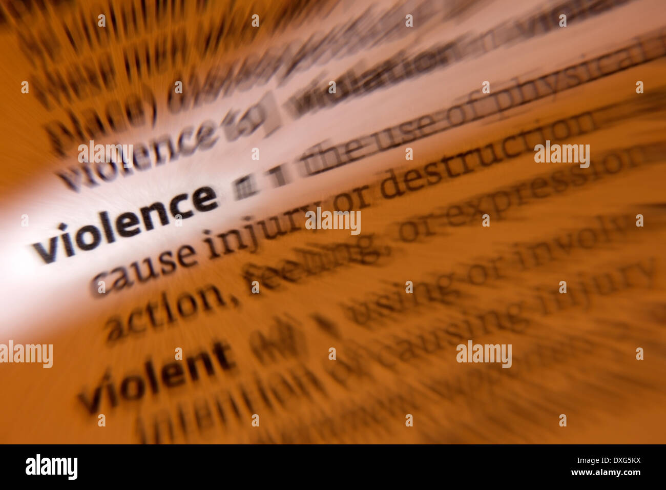Violence - Stock Image
