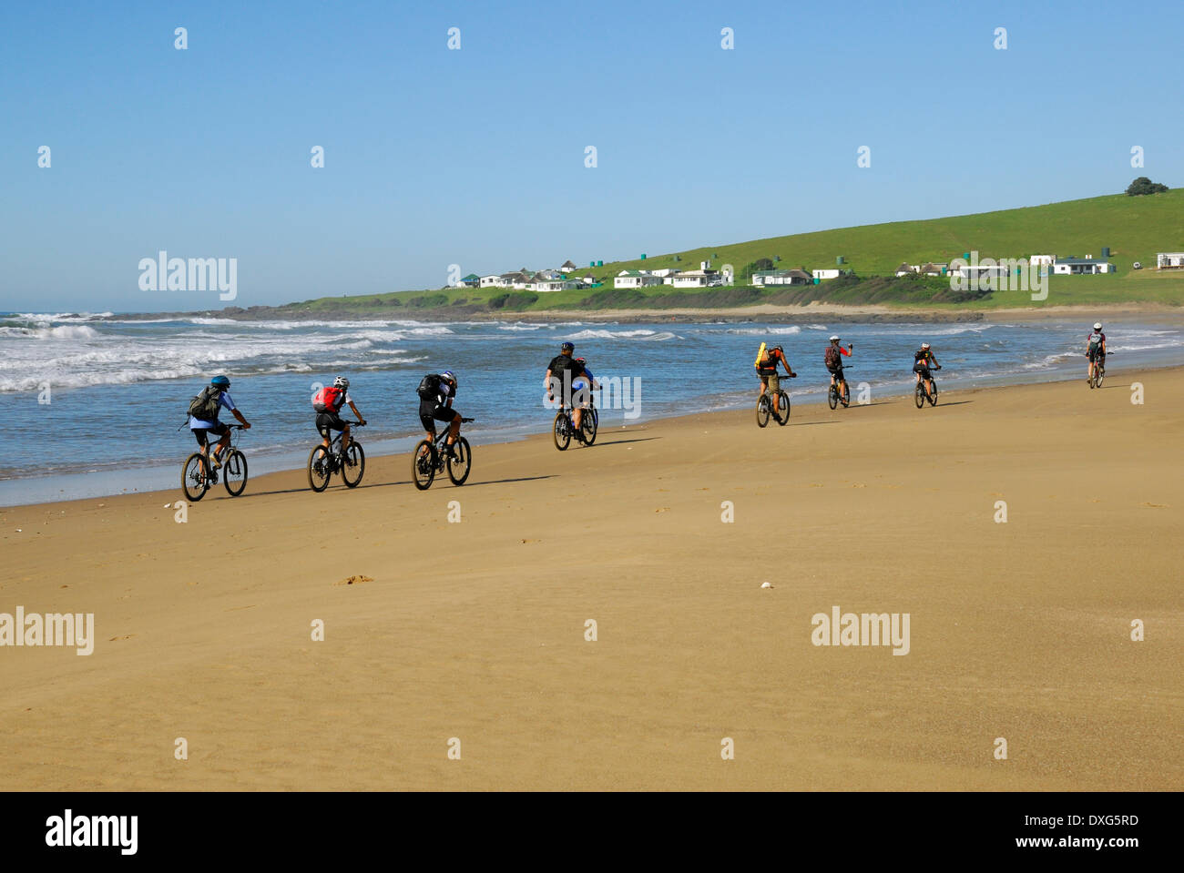 Cycling the Wild Coast at Breezy Point, Transkei, Eastern Cape - Stock Image