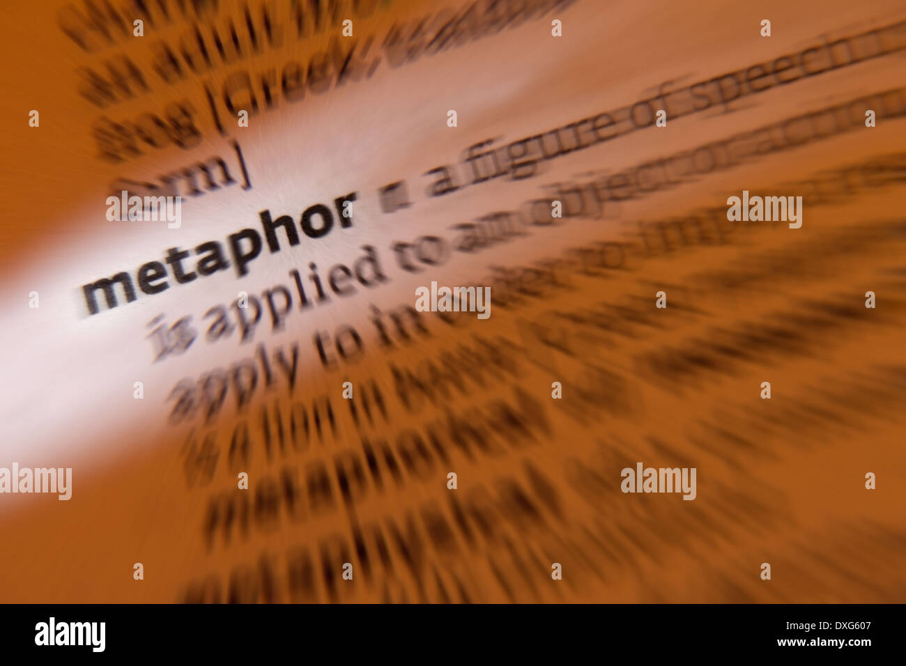 Metaphor - Stock Image