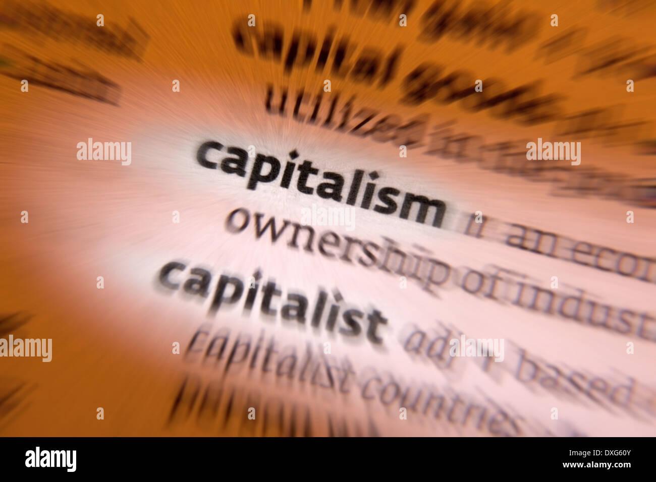 Capitalism - Stock Image