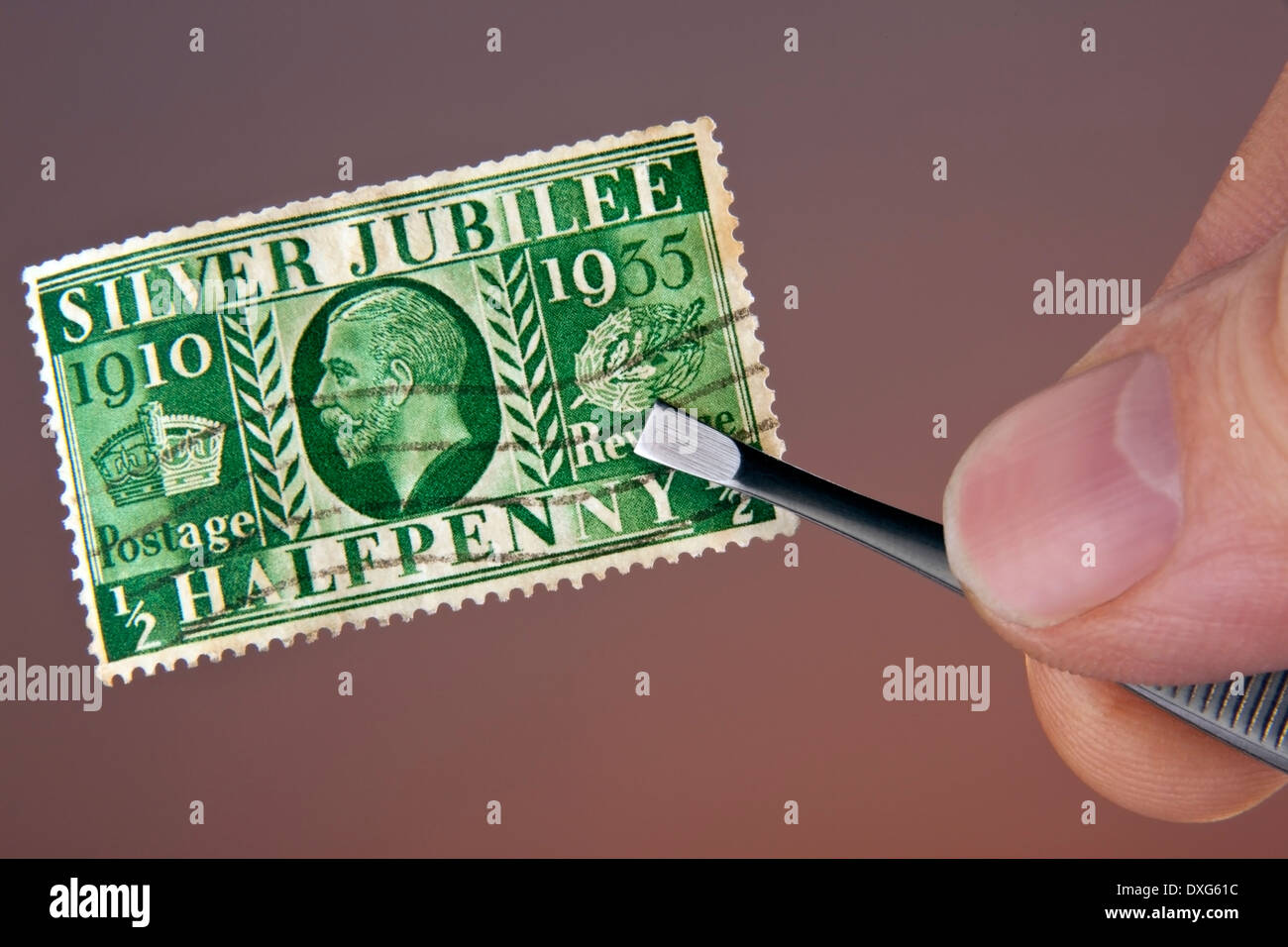 Stamp Collecting - Philately - Stock Image
