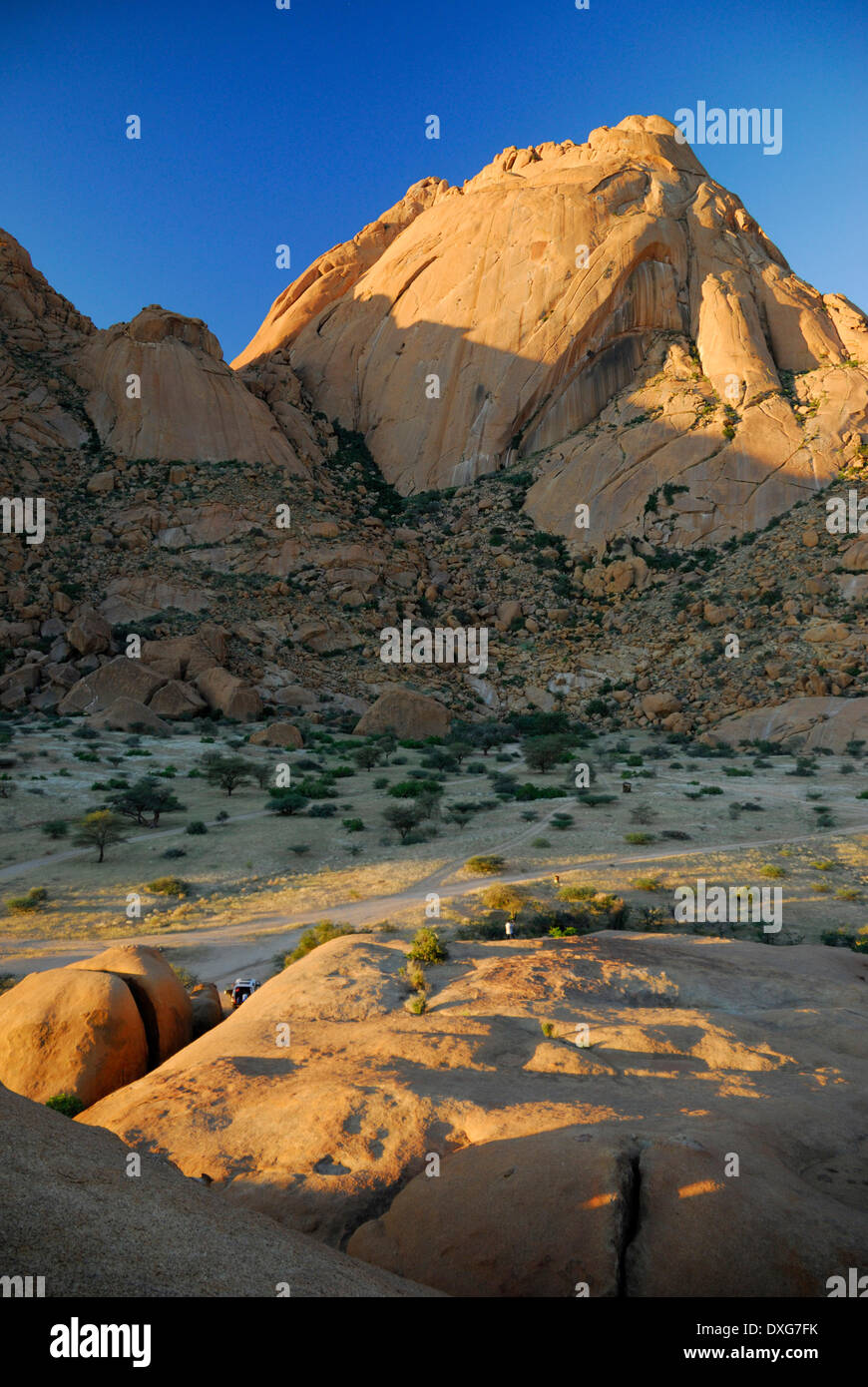 Sout West face of  Great Spitzkoppe, Namibia - Stock Image