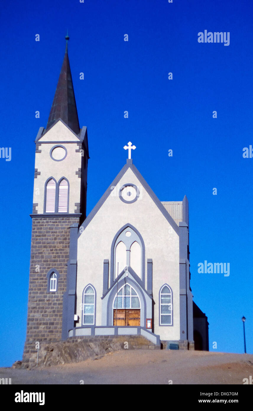Lutheran Church, Luderitz - Stock Image