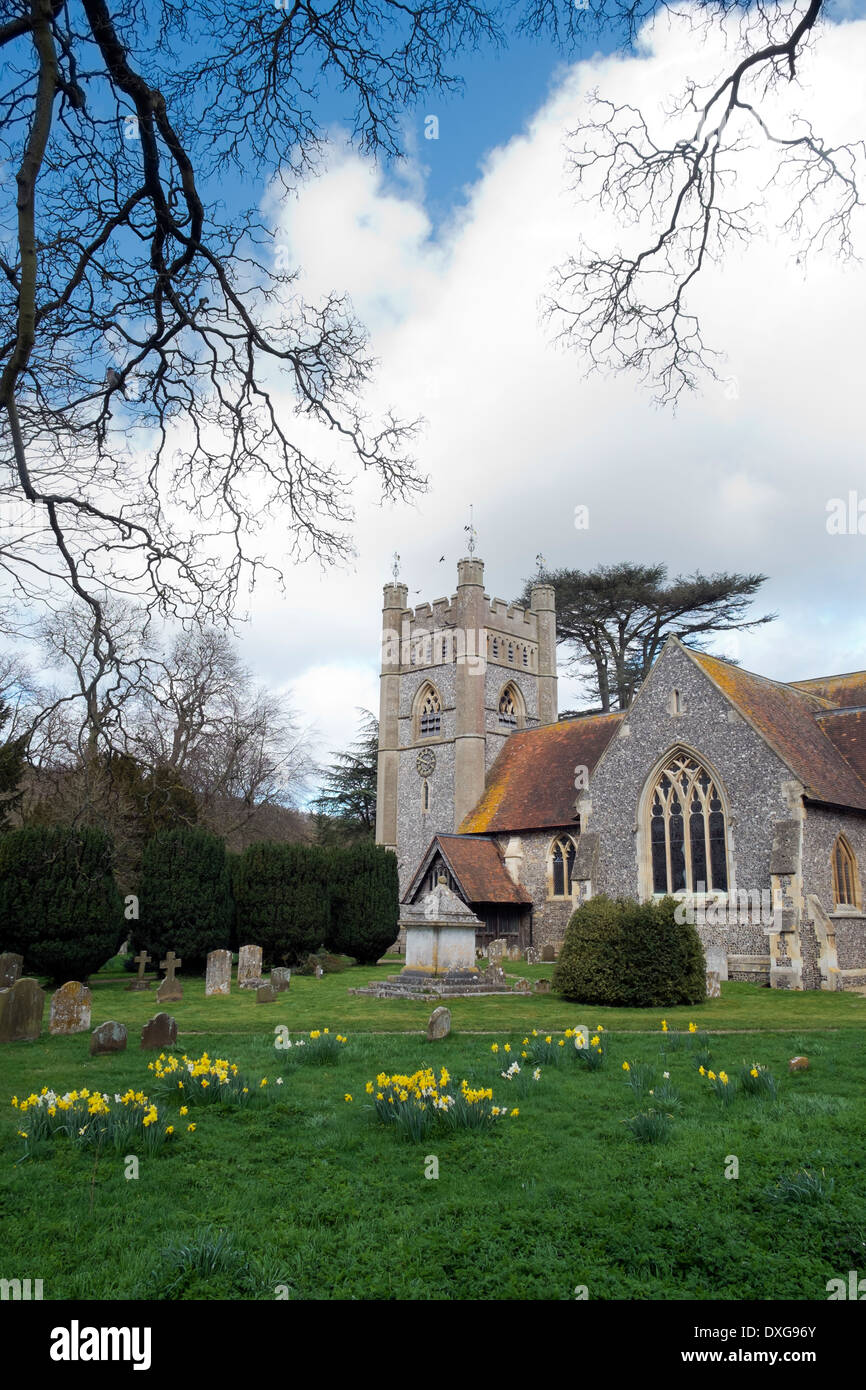 St Mary the Virgin Hambleden Parish Church Buckinghamshire UK Stock Photo