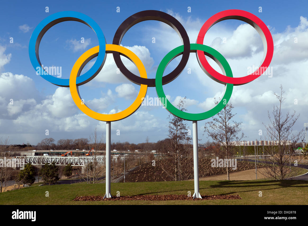 The Symbol Of The Olympic Games Five Interlocking Rings Colored