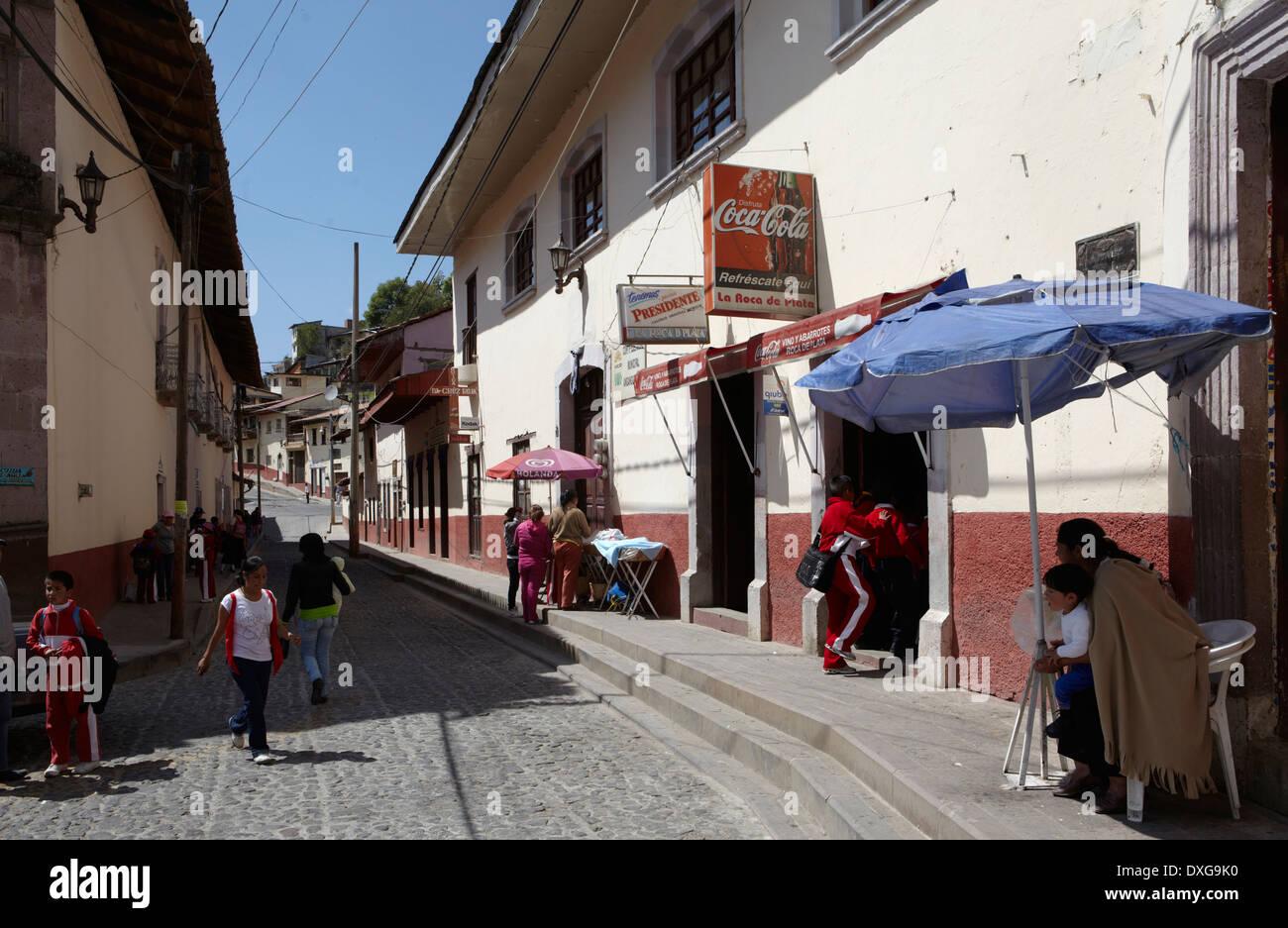 America, Mexico, Michoacán state, Angangueo village - Stock Image