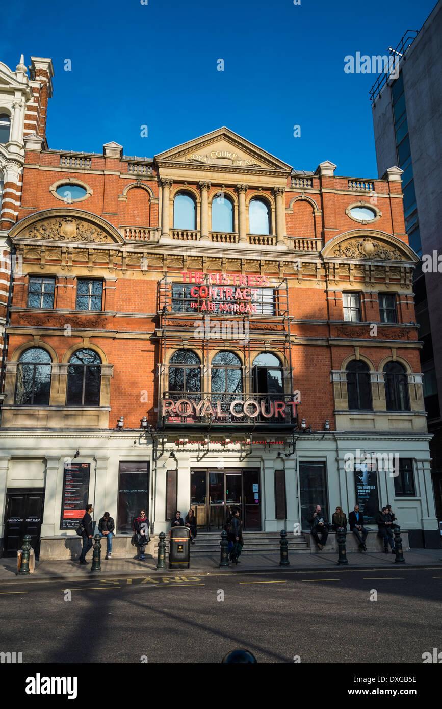 Royal Court theatre, Sloane Square, Chelsea, London, UK Stock Photo