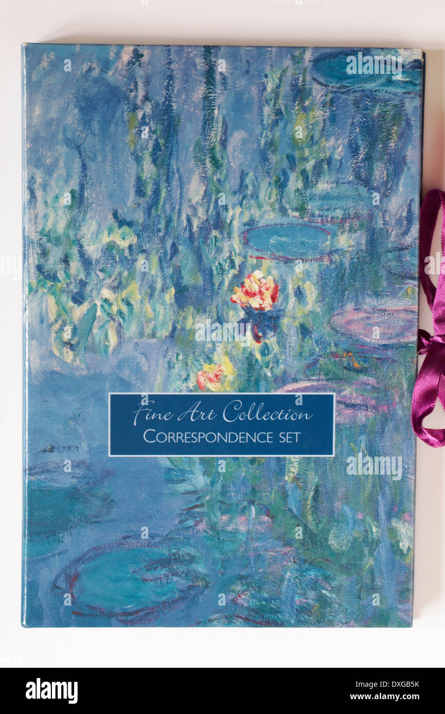 Fine Art Collection correspondence set on white background - Stock Image