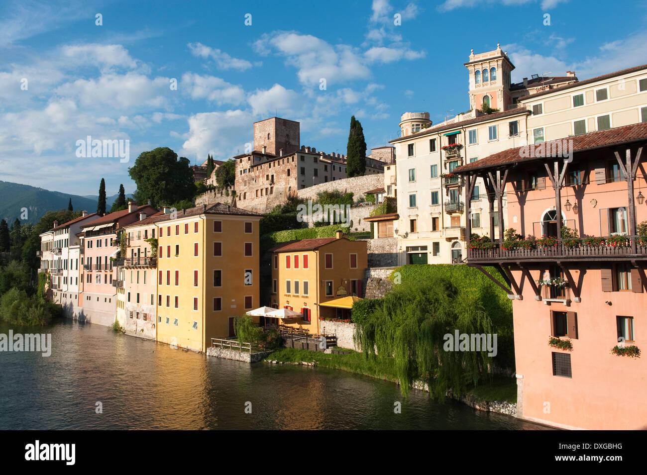 Brenta River, Bassano del Grappa, Province of Vicenza, Veneto, Italy - Stock Image