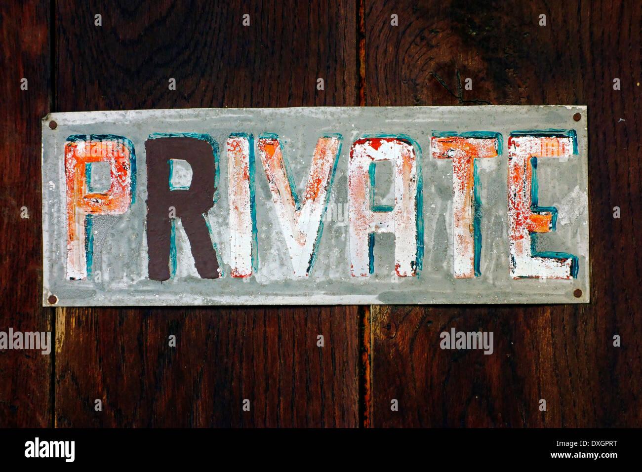 Private - Stock Image