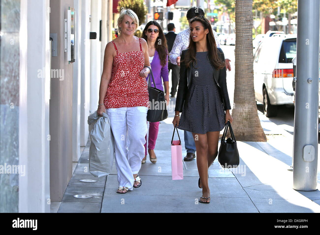 Rochelle Wiseman Aka Rochelle Humes Seen Shopping In Beverly Hills Stock Photo Alamy