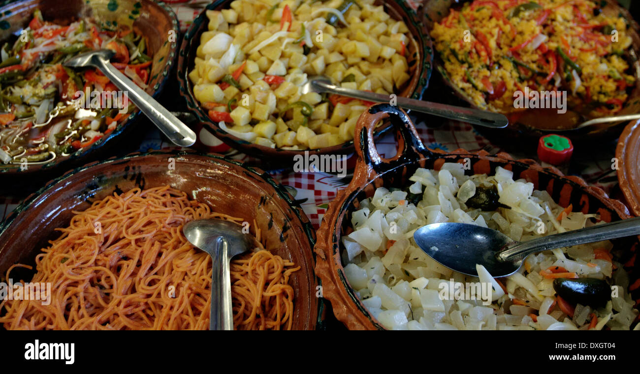 América, Mexico, Puebla state, Puebla city, the historical center, traditional food in the market - Stock Image