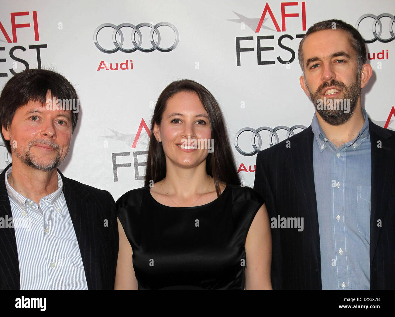 Ken Burns Sarah Burns David Mcmahon Afi Fest The Central Park Stock Photo Alamy