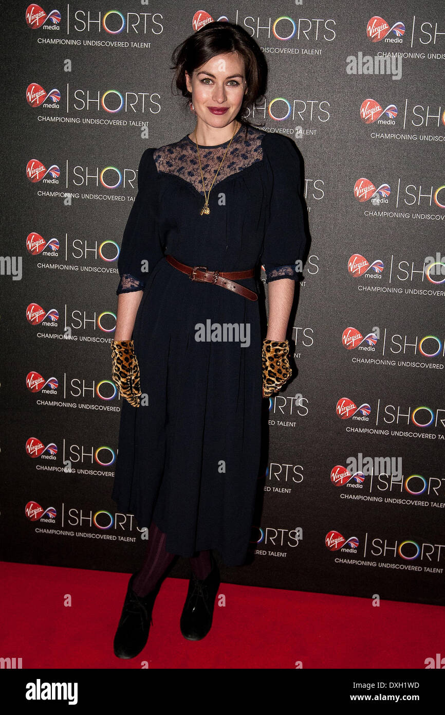 Natasha O'Keefe attends the 2012 Virgin Media Shorts Awards London, England - 08.11.12 Featuring: Natasha O'Keefe - Stock Image