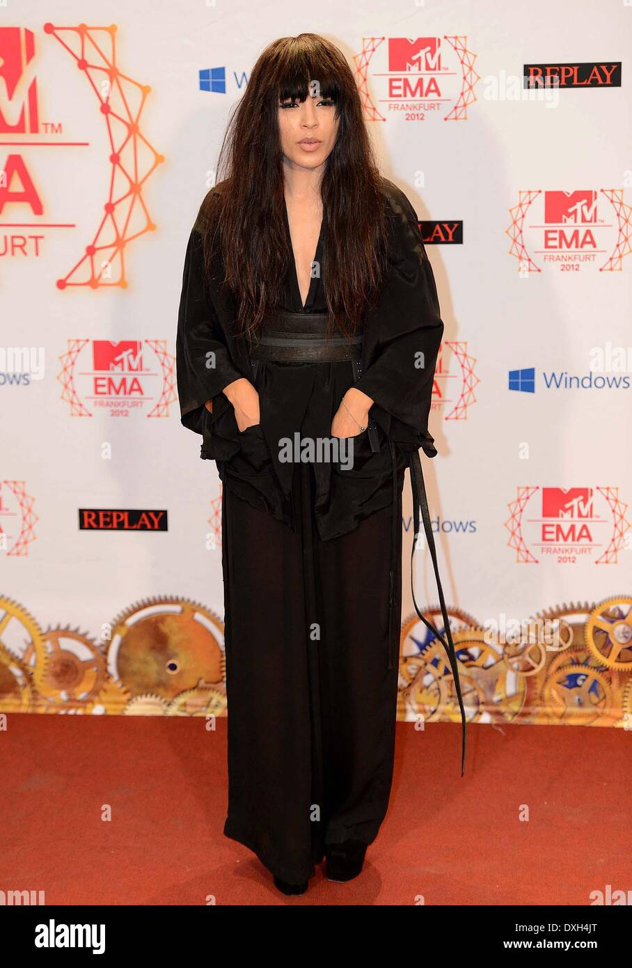 Loreen The MTV EMA's 2012 held at Festhalle - Arrivals Featuring: Loreen Where: Frankfurt, Germany Stock Photo