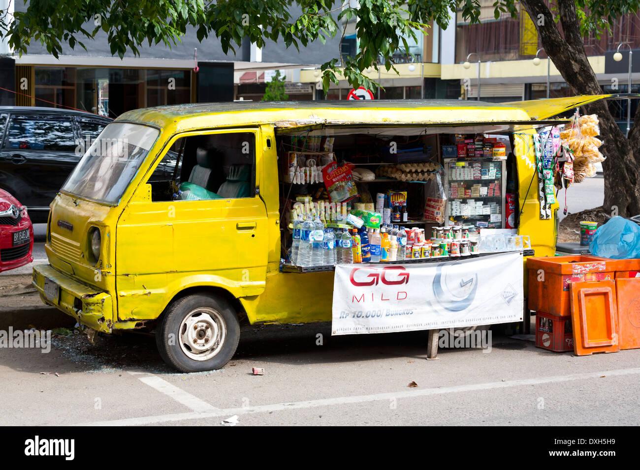 Mobile Kiosk In Nagoya Batam Indonesia Stock Photo Alamy