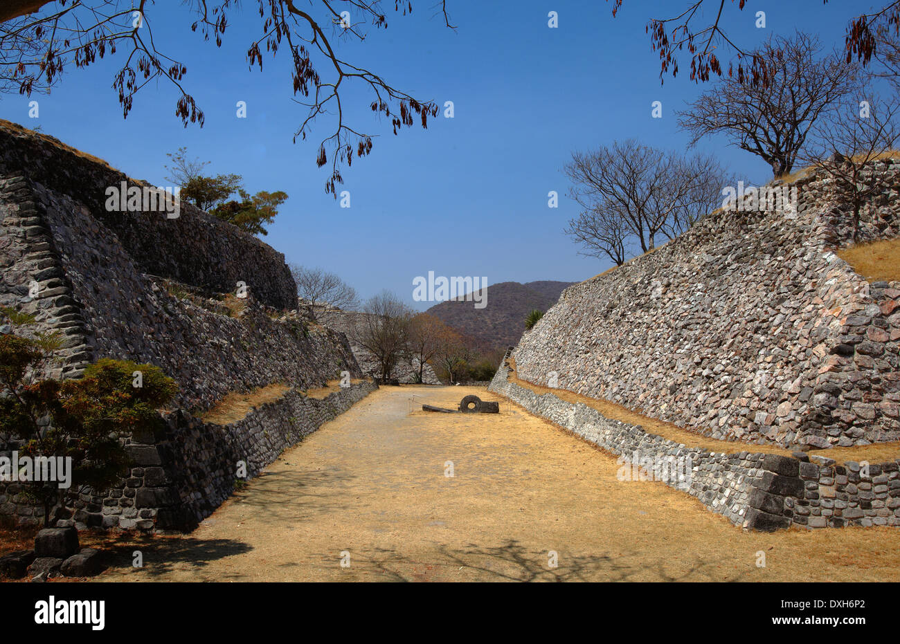 América, Mexico, Morelos state, Xochitepec village, archeological site of Xochicalco, the ballcourt - Stock Image