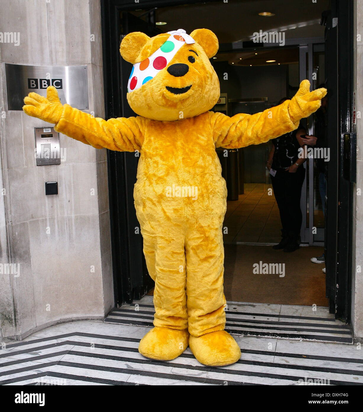 Salford City Mascot: Pudsey Bear Stock Photos & Pudsey Bear Stock Images