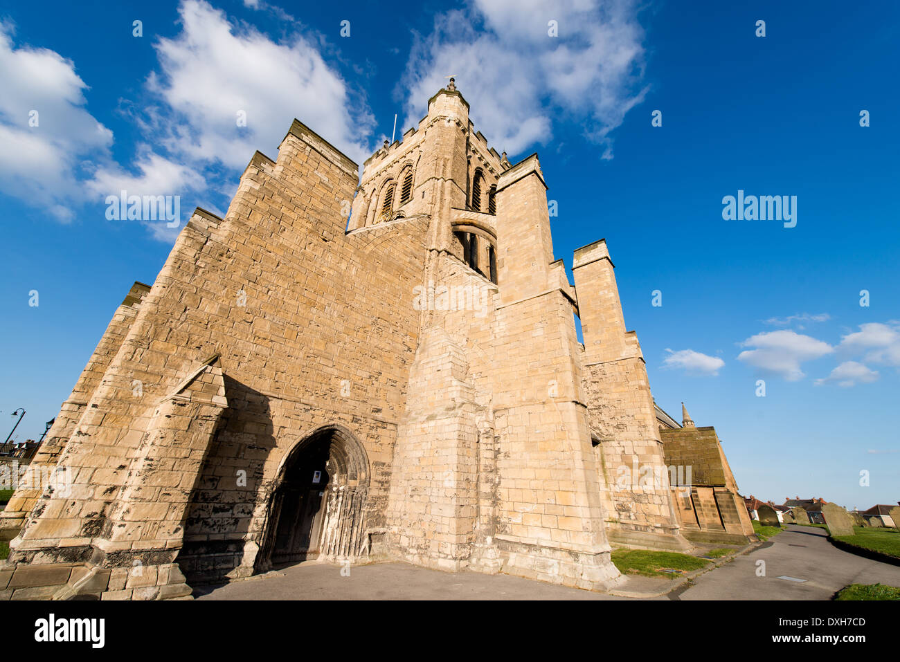 An unusual view of St Hilda's Church on the Headland of Hartlepool, UK. - Stock Image