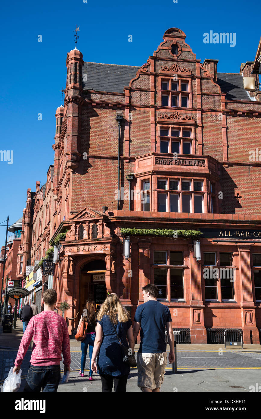 All Bar One pub in the old Bank Building, Wimbledon Hill Road, London, UK - Stock Image