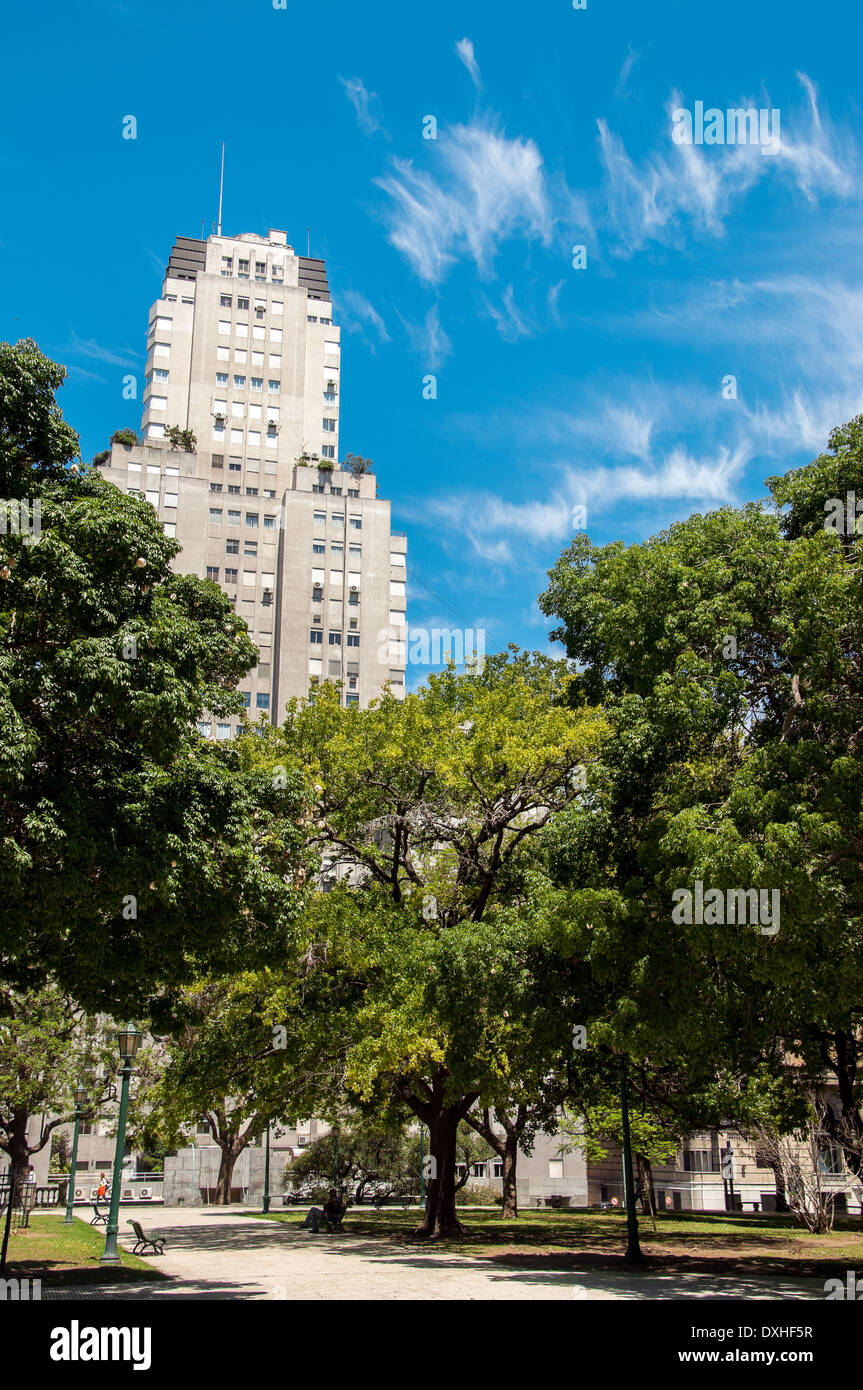 Trees in Plaza San Martin in Buenos Aires - Stock Image