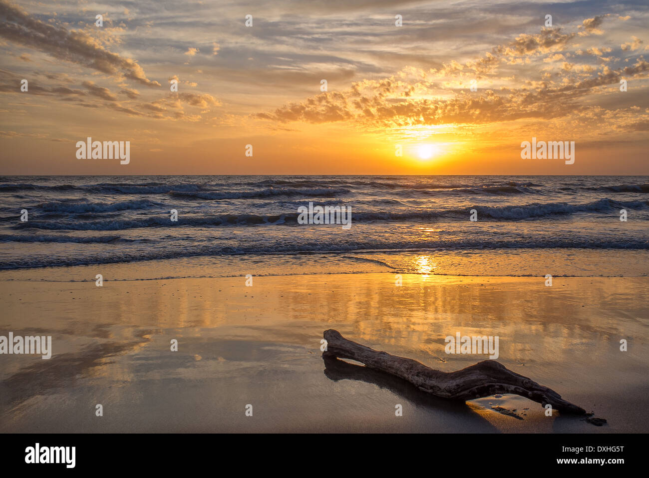 Sunset over the Tyrrhenian Sea - Stock Image