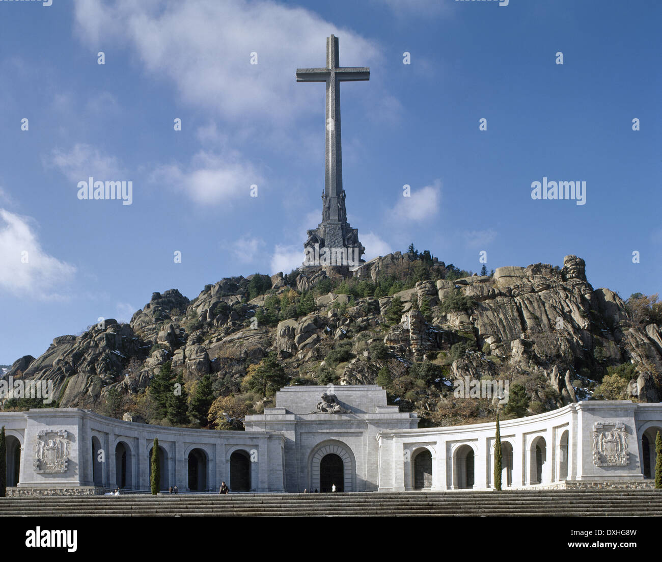 Spain. Madrid. Valley of the Fallen (Valle de los Caidos) By Pedro Muguruza (1893-1952) and Diego Mendez (1906-1987). Stock Photo