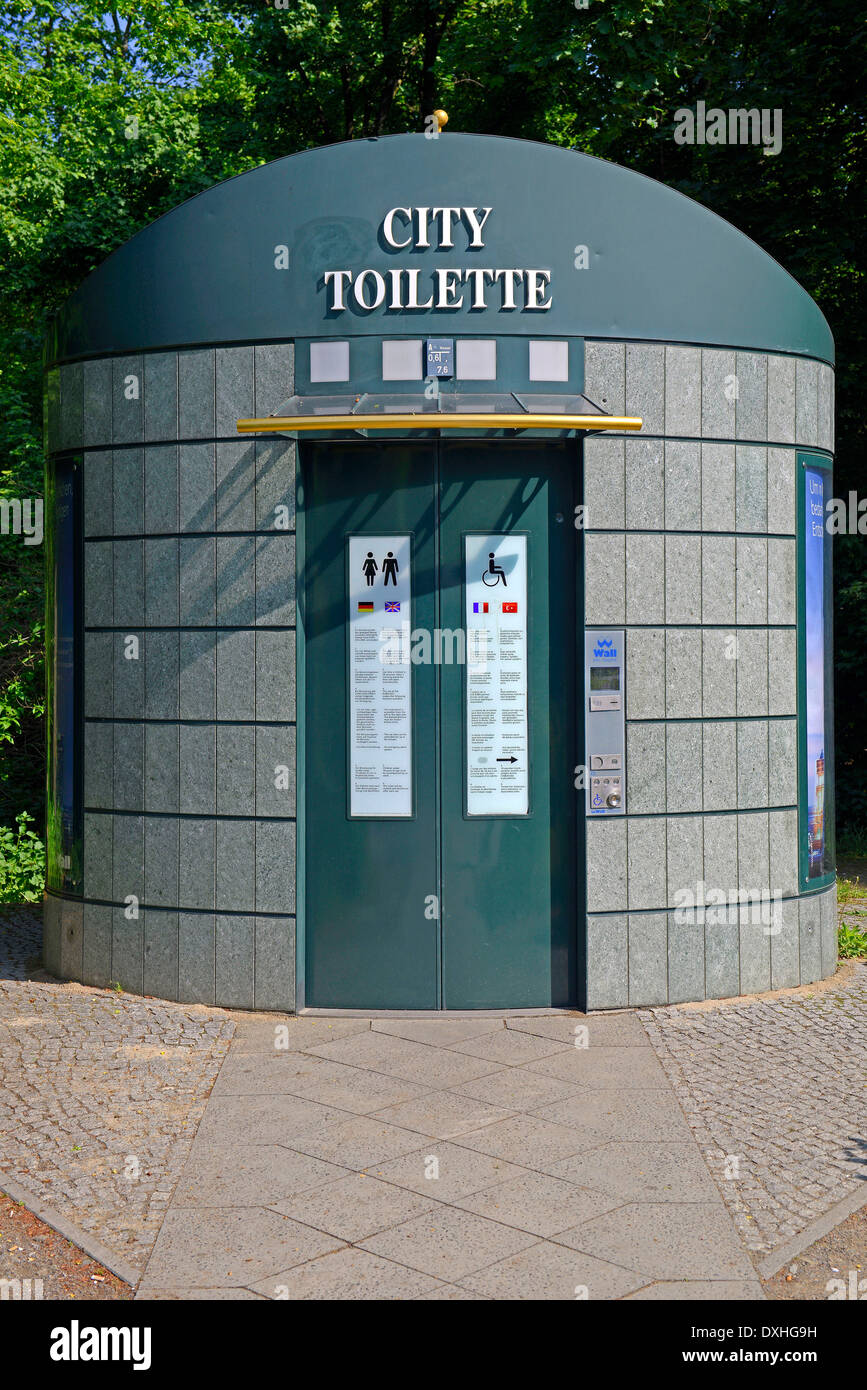 public toilette of Wall company, Berlin, Germany - Stock Image