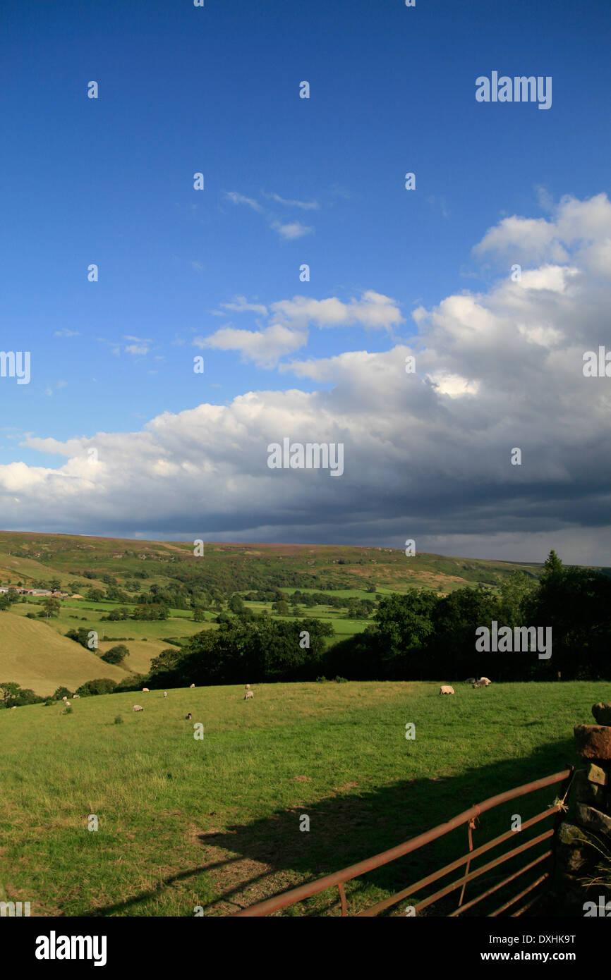 Advancing cloud Farndale North Yorkshire England UK - Stock Image
