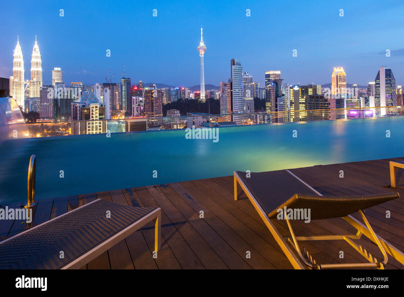 Kuala lumpur skyline from a rooftop swimming pool - Homestay in kuala lumpur with swimming pool ...