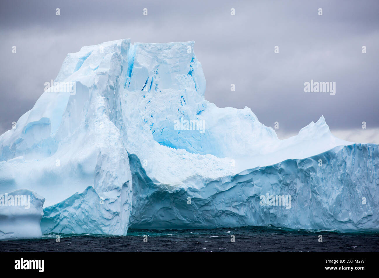 Icebergs off the South Orkney Islands, just off the Antarctic Peninsular. This area is one of the most rapidly warming areas - Stock Image
