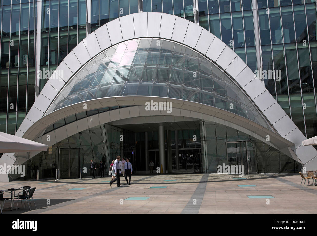 Entrance, CityPoint building, London, England - Stock Image