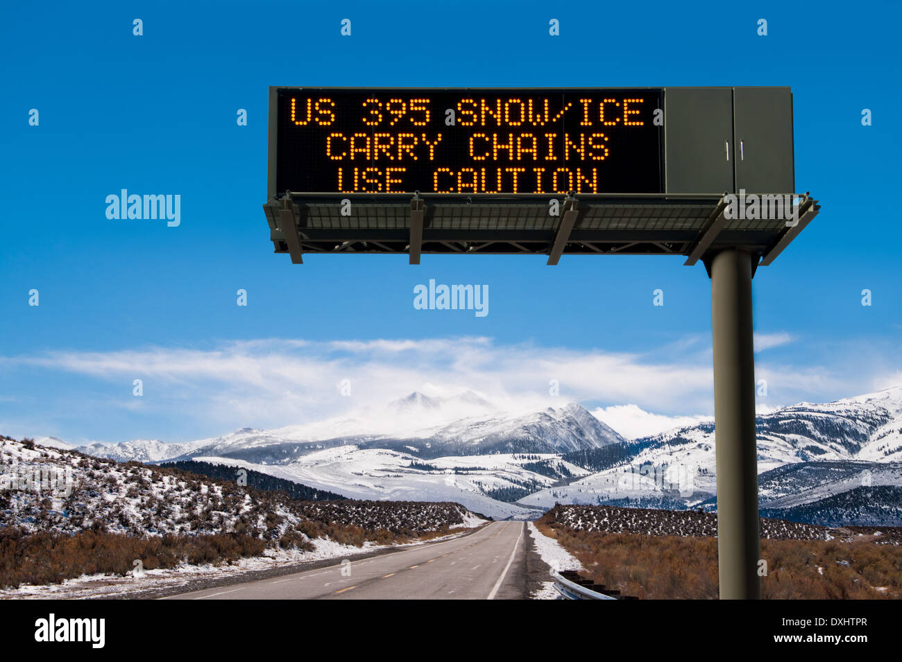 Road Conditions Sign - Stock Image