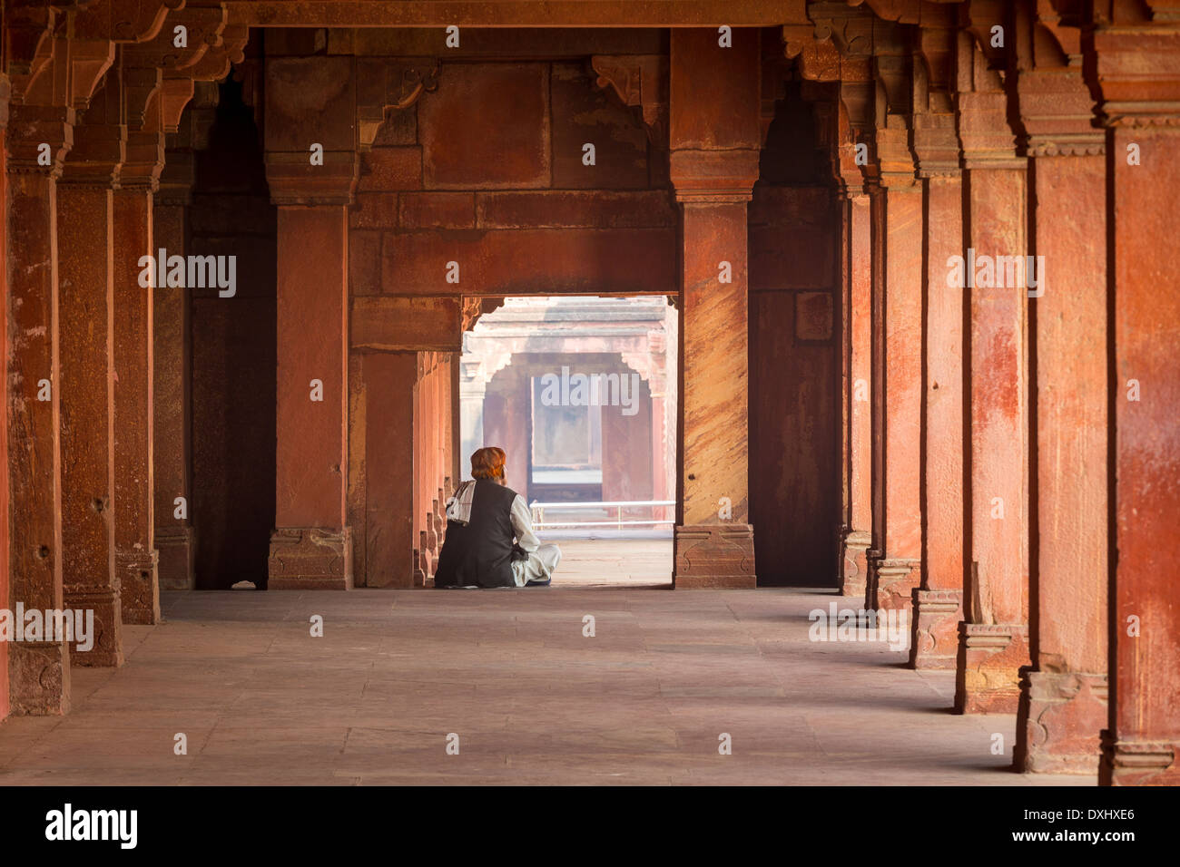 Fatehpur Sikri is a city and a municipal board in Agra district in the state of Uttar Pradesh, India - Stock Image