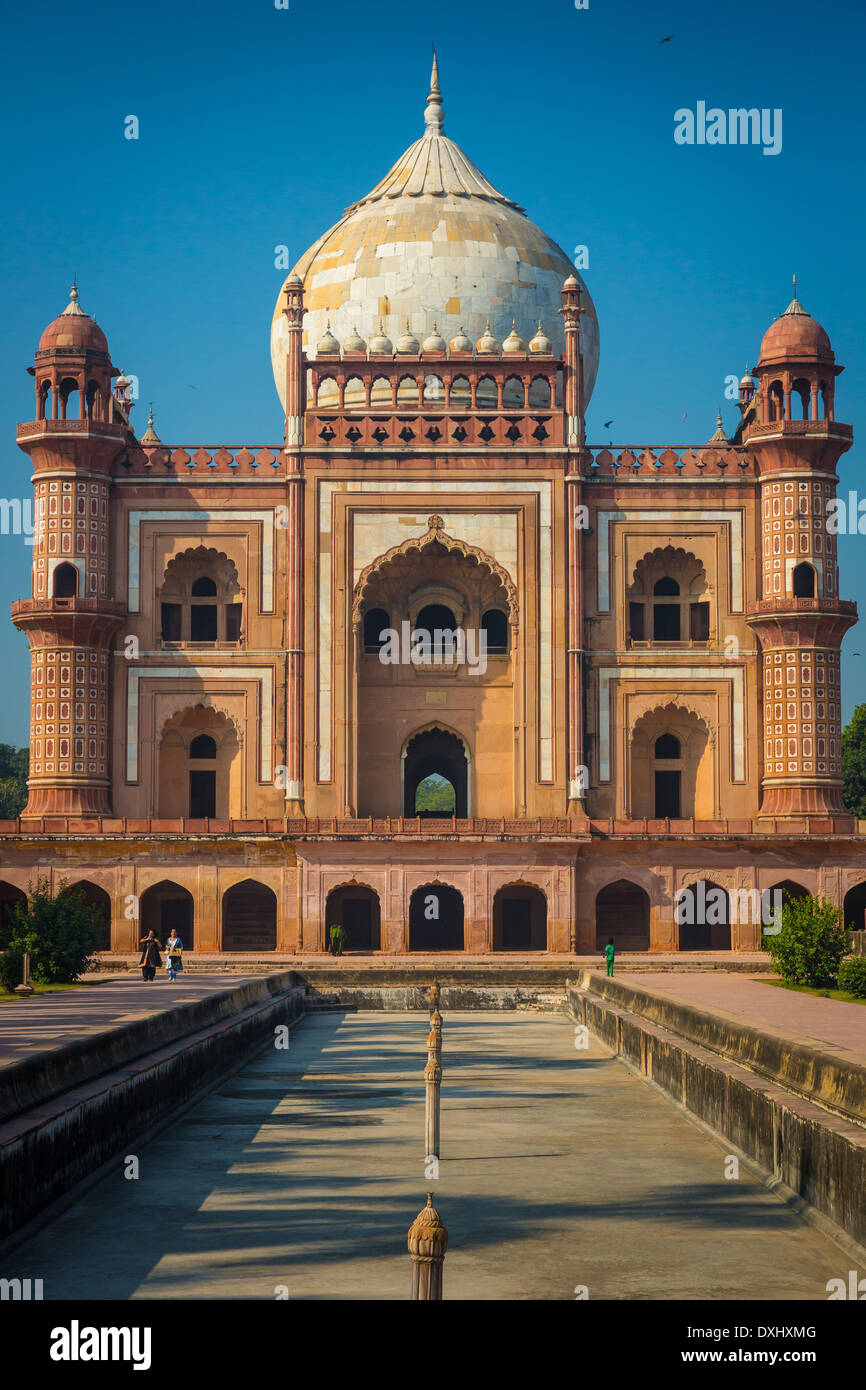 Safdarjung's Tomb is a sandstone and marble mausoleum in New Delhi, India - Stock Image