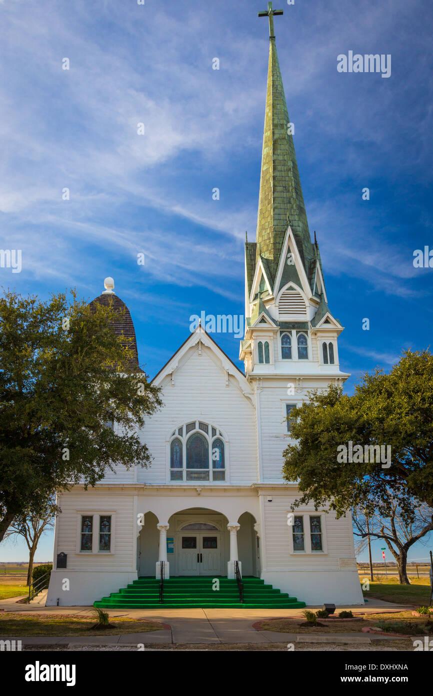 The Lutheran church in New Sweden, a small unincorporated community in northeast Travis County, Texas, United States - Stock Image