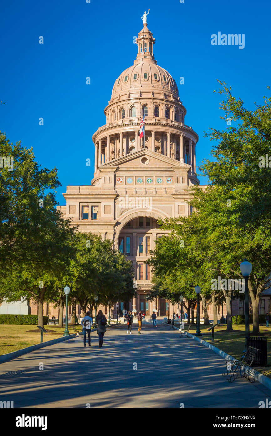 The Texas State Capitol, located in downtown Austin, Texas - Stock Image